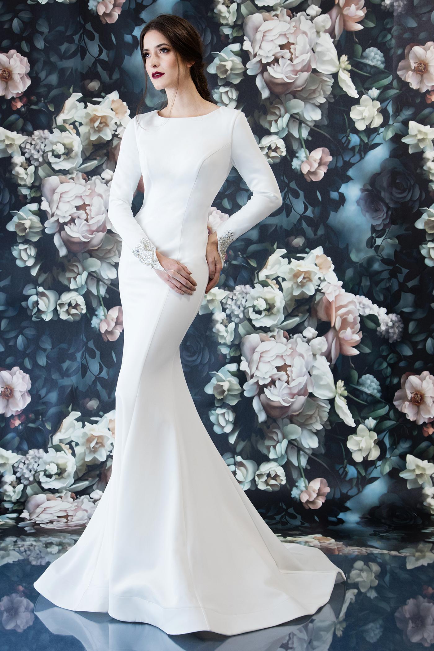 11808lb audrey laine berry bride for Long dress for wedding reception