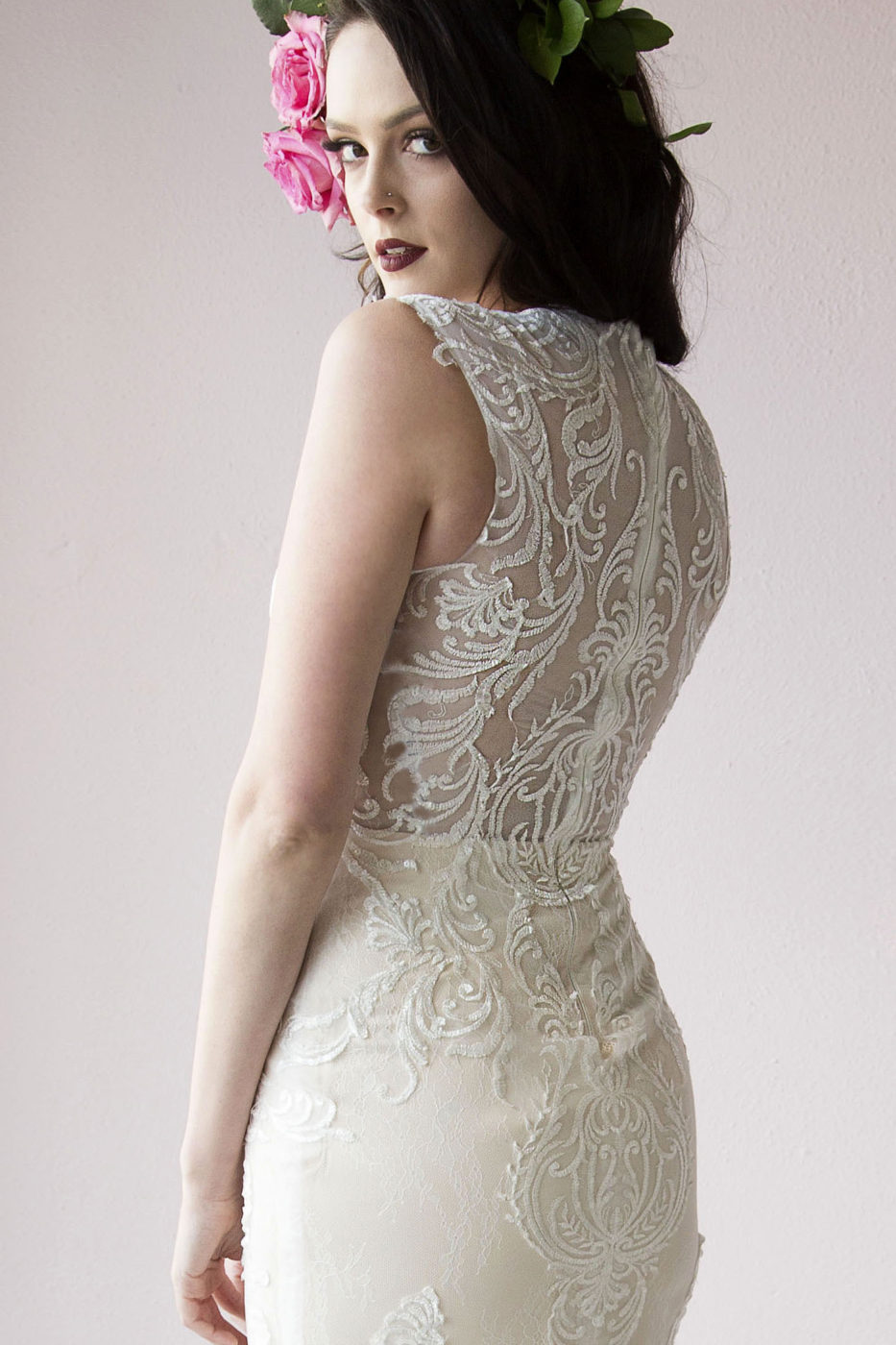 21849B Laine Berry Couture lace back www.LaineBerry.com